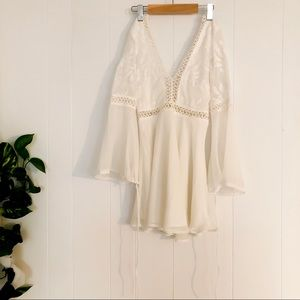 Hello Molly Dresses - Hello Molly White Cream Lace Longsleeve Dress